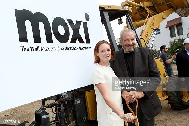 Dick Wolf and wife Noelle Wolf during the ground breaking ceremony for the Moxi Santa Barbara Museum of Exploration Innovation on October 15 2014 in...