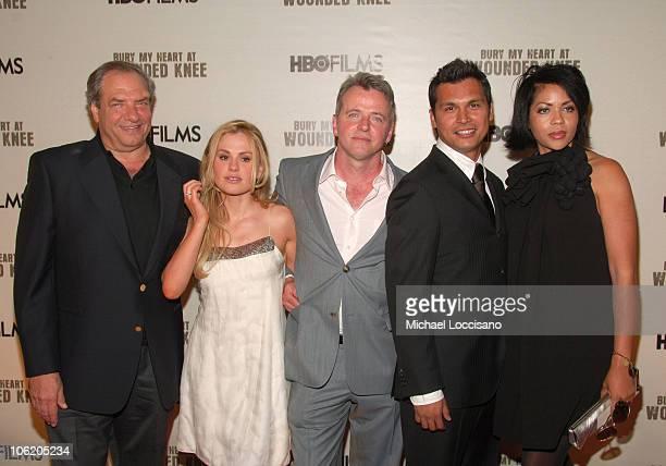 Dick Wolf Executive Producer Anna Paquin Aidan Quinn Adam Beach and Sam Martin VP HBO Films