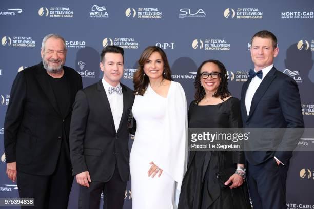 Dick WolfJon SedaMariska HargitaySEpatha Merkerson and Philip Winchester attend the opening ceremony of the 58th Monte Carlo TV Festival on June 15...