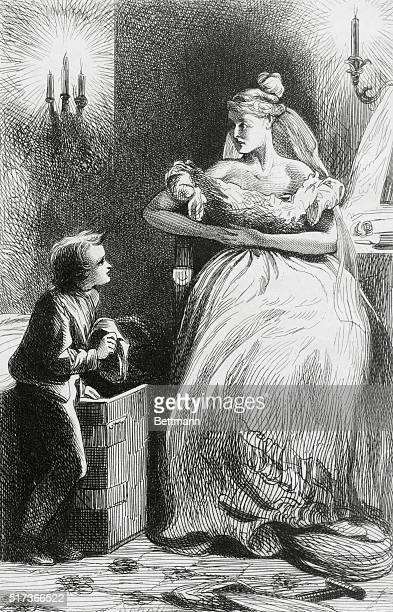 Dickens illustrations to Great Expectations Pip visits Miss Haversham