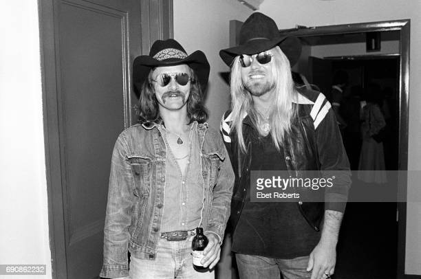 Dickey Betts and Gregg Allman of the Allman Brothers Band on Robert Klein's Radio Show at DIR in New York City on April 19 1979