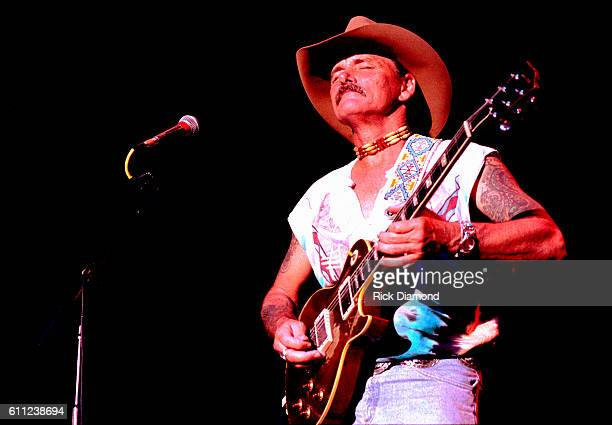 Dickey Betts of The Allman Brothers Band performs at Chastain Park Amphitheater in Atlanta Georgia Circa 1993