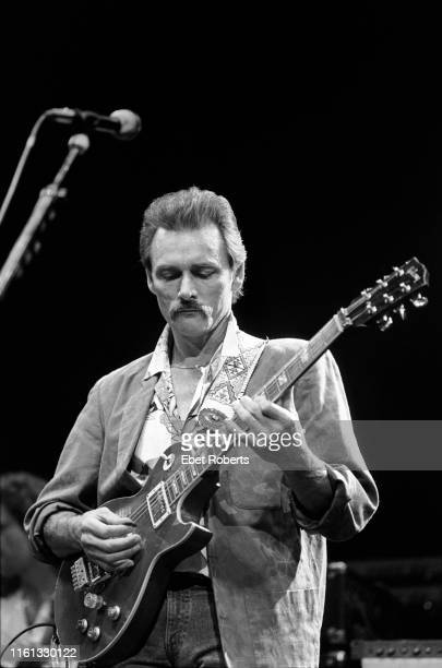 Dickey Betts performing with The Allman Brothers Band at a 'Crack Down On Crack' concert at Madison Square Garden in New York City on October 31 1986...
