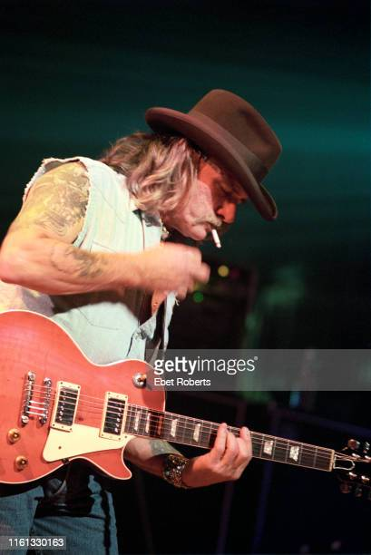 Dickey Betts performing with The Allman Brothers Band at the Beacon Theatre in New York City on March 6 1999 He is playing a Gibson Les Paul Standard...