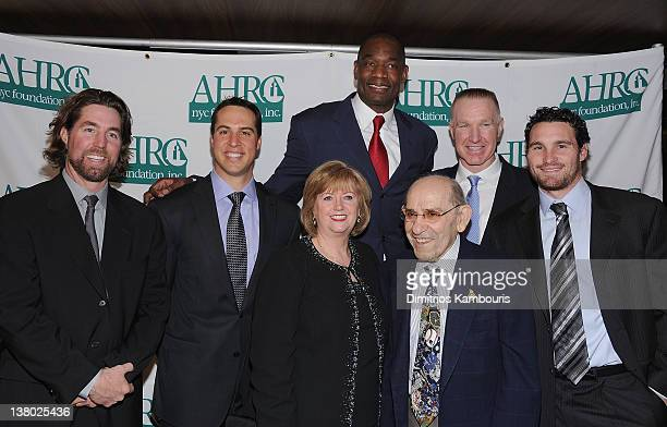 RA Dickey Mark Teixeira Diana Munson Dikembe Mutombo Yogi Berra Chris Mullin and Daniel Murphy attend the 32nd Annual Thurman Munson Awards at the...