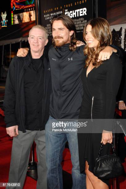 Dickie Eklund Christian Bale and Sibi Blazic attend Los Angeles Premiere of THE FIGHTER at Grauman's Chinese Theater on December 6 2010 in Los...
