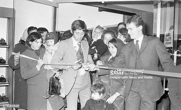 Dickie Rock at the opening of a Shopping Centre in Ballymun in Dublin circa February 1971 indo pic Scanned from the NPA archives