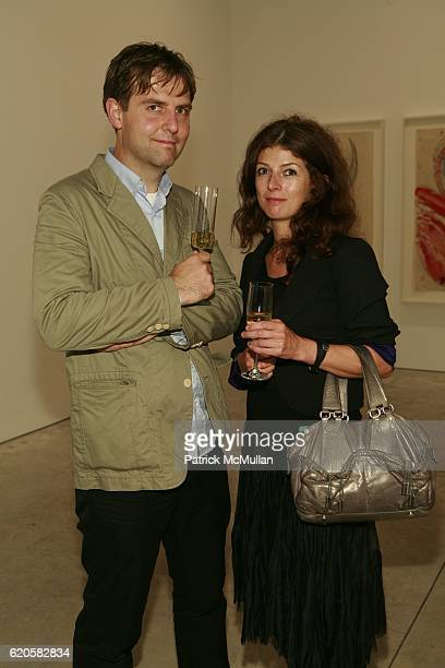 Dickon Bowden and Carolyn Lynch attend LOUIS XIII Celebrates WALLPAPER'S Guest Editor LOUISE BOURGEOISE with HELMUT LANG at Cheim Reid and...