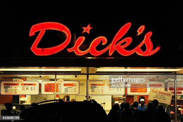Dick's Drivein iconic local landmark hamburger joint Seattle Washington March 8 2015