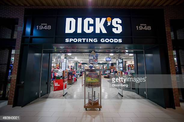 A Dick's Sporting Goods Inc store stands in West Nyack New York US on Wednesday May 21 2014 Dick's Sporting Goods Inc shares fell the most in more...