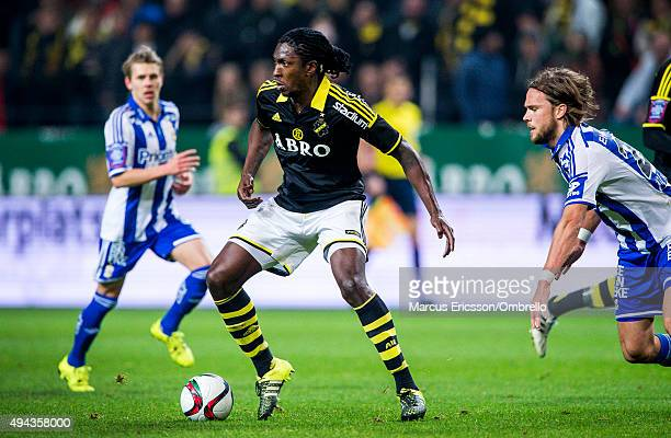 SOLNA SWEDEN OCTOBER Dickson Etuhu of AIK during the Allsvenskan match between AIK and IFK Goteborg at Friends arena on October 26 2015 in Solna...