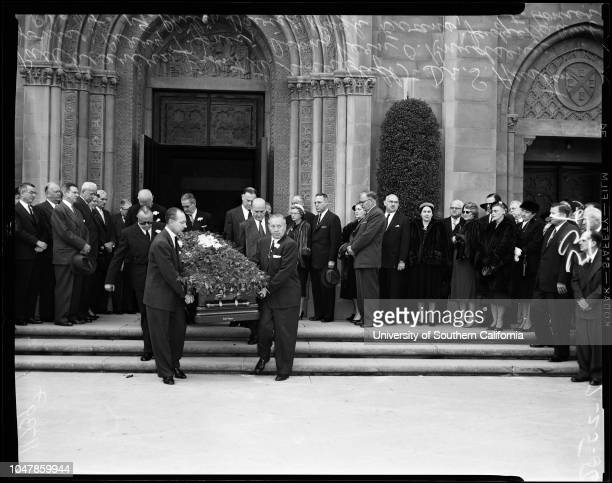Dickson funeral 25 February 1956 Doctor S Austin JonesPerry T JonesDean Vern O KnudsenHugh EvansJudge Frederick F HouserCaption slip reads...