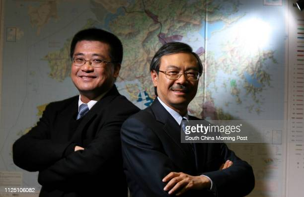 Dickson Lo President of Maunsell AECOM Group and Tony Shum Regional Chief Executive Officer Asia of AECOM Technology Corporation Photo in their...