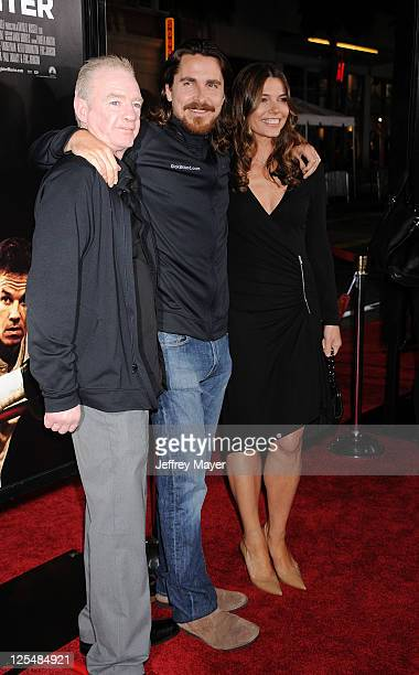 """Dicky Eklund, Christian Bale and Sibi Blazic attend """"The Fighter"""" Los Angeles premiere at Grauman's Chinese Theater on December 6, 2010 in Hollywood,..."""