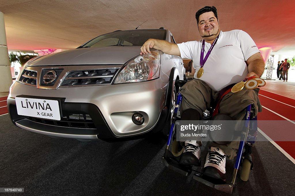 Dicreu Pinto poses for a picture during the presentation of Team Nissan for Rio de Janeiro Olympics Games 2016 at Cine Lagoon on November 27, 2012 in Rio de Janeiro, Brazil.
