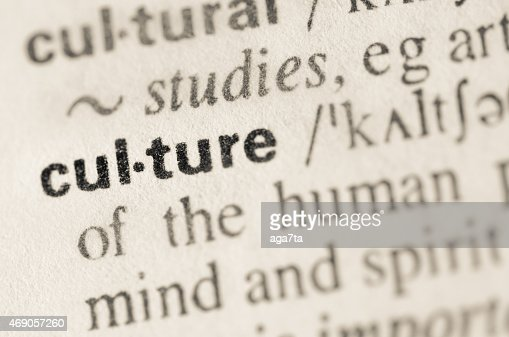 Dictionary Definition Of Word Culture Stock Photo - Getty Images