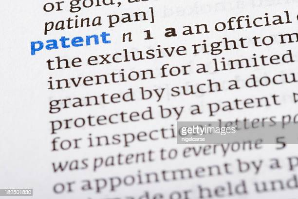 dictionary definition: patent - intellectual property stock pictures, royalty-free photos & images