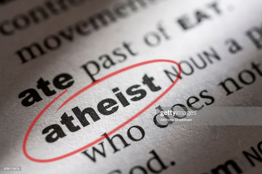 Dictionary entry for the word athiest : Stock Photo