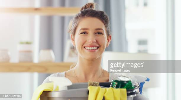 did you know that a clean house elevates your mood! - daily bucket stock pictures, royalty-free photos & images