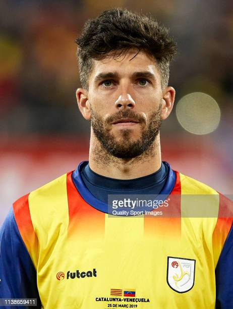 Didac Vila of Catalonia looks on before the International Friendly match between Catalonia and Venezuela at Montilivi Stadium on March 25 2019 in...
