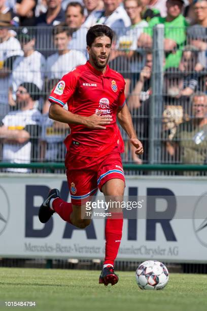 Didac Vila of Espanyol Barcelona controls the ball during the friendly match beween Borussia Moenchengladbach and Espanyol Barcelona on August 11...