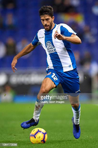Didac Vila of Espanyol runs with the ball during the La Liga match between RCD Espanyol and Athletic Club at RCDE Stadium on November 5 2018 in...