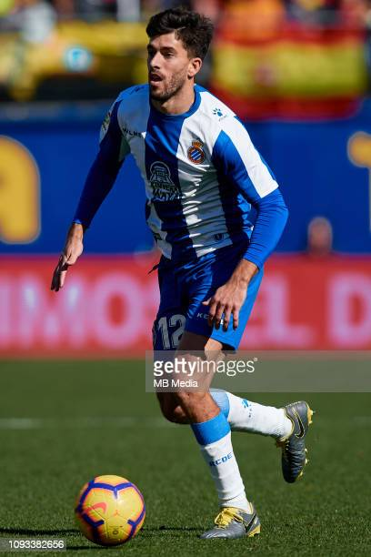Didac VIla of RCD Espanyol in action during the La Liga match between Villarreal CF and RCD Espanyol at Estadio de la Ceramica on February 3 2019 in...