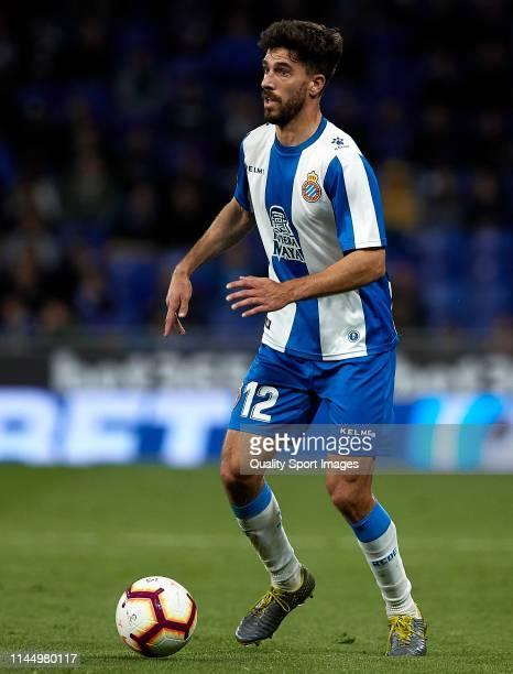 Didac Vila of RCD Espanyol with the ball during the La Liga match between RCD Espanyol and RC Celta de Vigo at RCDE Stadium on April 24 2019 in...