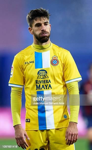 Didac Vila Rosello of RCD Espanyol reacts during the La Liga match between SD Eibar and RCD Espanyol at Ipurua Municipal Stadium on January 21 2019...