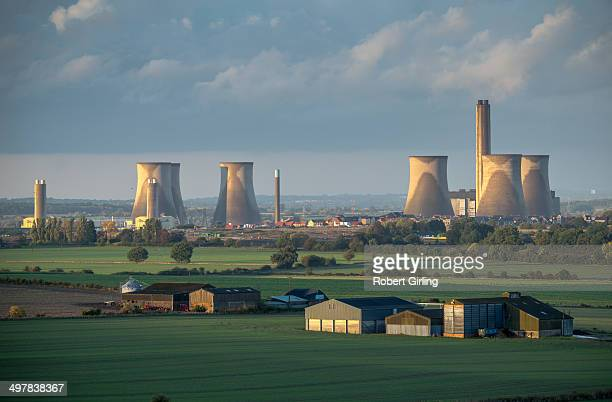 CONTENT] Didcot Power Station after the rain with the cooling towers showing the stains from the rain