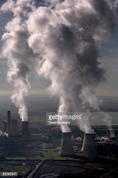 Didcot Power Stations are seen in this aerial photo taken on October 8 2008 near Didcot England Gas and electricity prices have soared over recent...