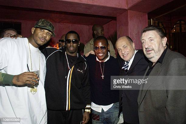 P Diddy and Andre Harrell during PlayStation 2 PreGrammy Party Hosted by Pharrell at The Spider Room in Hollywood California United States