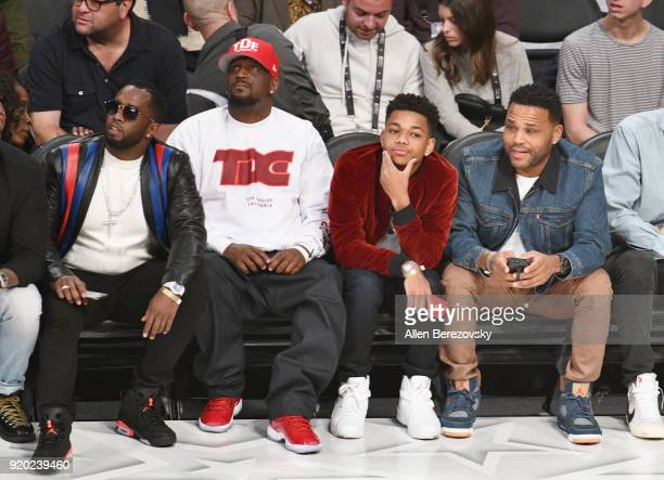 Diddy and Anthony Anderson attends the NBA AllStar Game 2018 at Staples Center on February 18 2018 in Los Angeles California