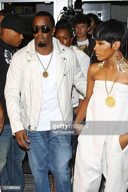 P Diddy and Dawn Richard sighted outside BBC Radio One on June 11 2010 in London England