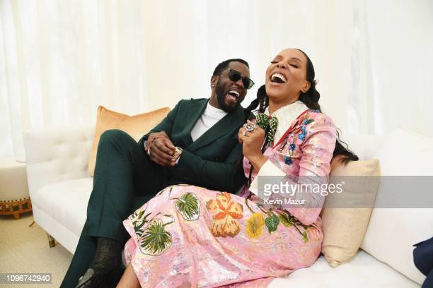 Diddy and June Ambrose attend 2019 Roc Nation THE BRUNCH on February 9 2019 in Los Angeles California