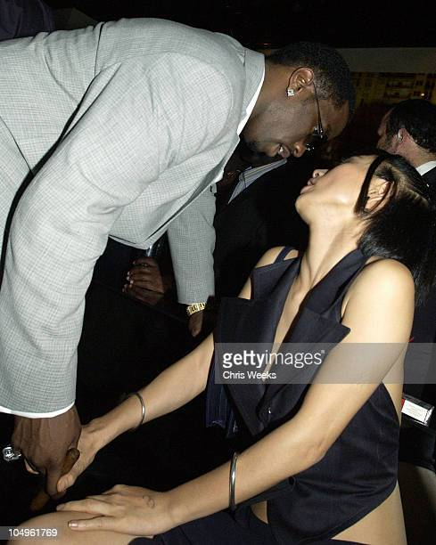 P Diddy Bai Ling during Endeavor's MTV Movie Awards Party Featuring Ciroc Vodka And LG Mobile Phones at Dolce in West Hollywood California United...