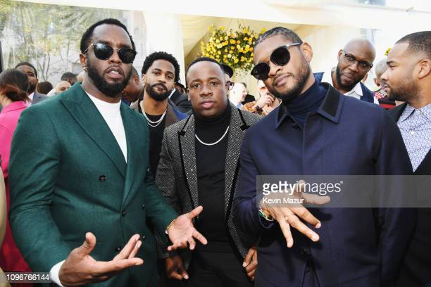 Diddy, Big Sean, Yo Gotti and Usher attend 2019 Roc Nation THE BRUNCH on February 9, 2019 in Los Angeles, California.