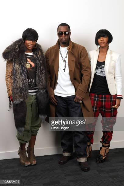 P Diddy Dawn Richards and Kalenna Harper of Diddy Dirty Money pose for a portrait session to promote their new album Last Train to Paris released on...