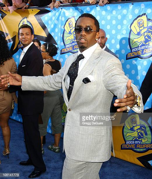 P Diddy during 2003 MTV Movie Awards Arrivals at The Shrine Auditorium in Los Angeles California United States