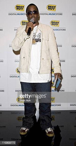 Diddy during Launch of Best Buy Digital Music Store Featuring Diddy October 6 2006 at Stone Rose in New York City New York United States