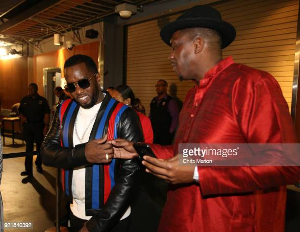Diddy is seen during the NBA AllStar Game as a part of 2018 NBA AllStar Weekend at STAPLES Center on February 18 2018 in Los Angeles California NOTE...