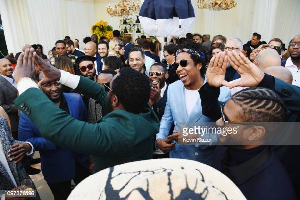 Diddy JayZ and Usher attend 2019 Roc Nation THE BRUNCH on February 9 2019 in Los Angeles California