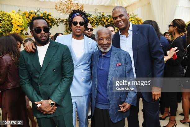 Diddy JAYZ Clarence Avant and Jon Platt attend 2019 Roc Nation THE BRUNCH on February 9 2019 in Los Angeles California