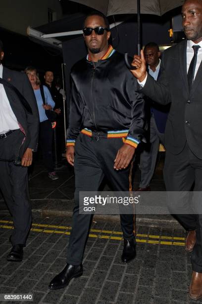 Diddy leaving Lou Lous private club Mayfair on May 16, 2017 in London, England.