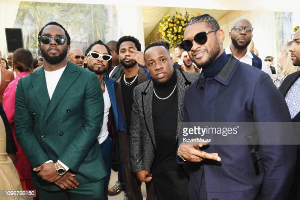 Diddy, Miguel, Big Sean, Yo Gotti and Usher attend 2019 Roc Nation THE BRUNCH on February 9, 2019 in Los Angeles, California.