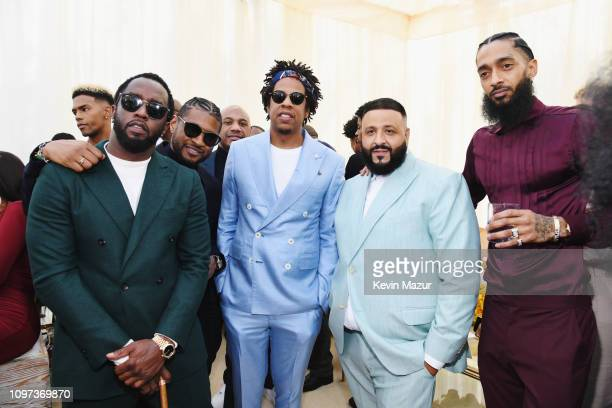 Diddy Usher JAYZ DJ Khaled and Nipsey Hussle attend 2019 Roc Nation THE BRUNCH on February 9 2019 in Los Angeles California