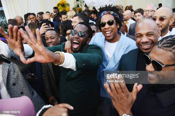 DiddyJayZ and Usher attend 2019 Roc Nation THE BRUNCH on February 9 2019 in Los Angeles California