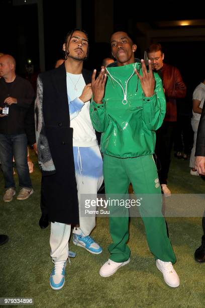 Diddy's sons Quincy and Christian attend the OffWhite Menswear Spring/Summer 2019 show as part of Paris Fashion Week on June 20 2018 in Paris France