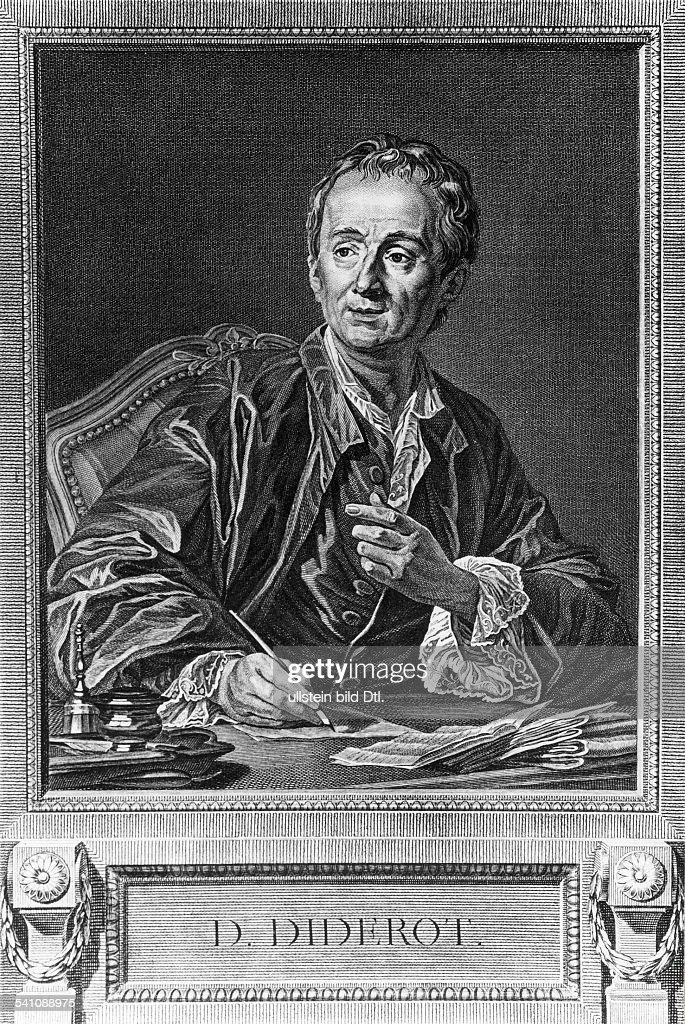 Diderot, Denis - Schriftsteller, Frankreich : News Photo