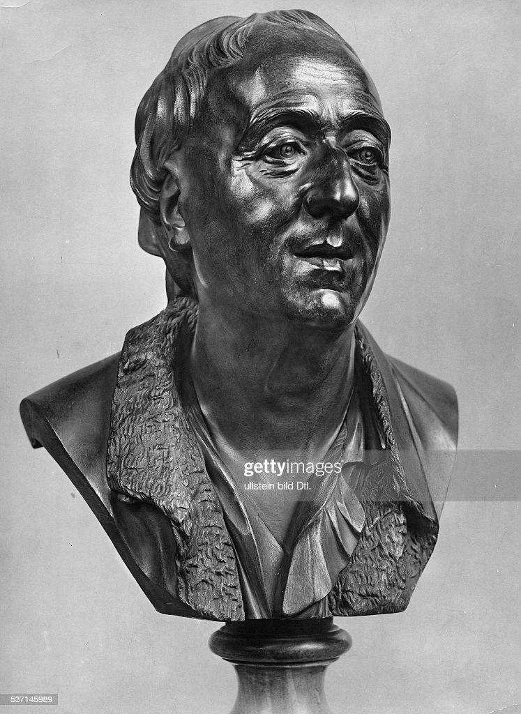 Diderot, Denis - writer, philosoph, France *05.10.1713-31.07.1784+ - brazen bust of the artist J.- B. Pigalle - undated : News Photo